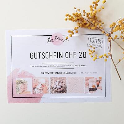 Lalana Gutschein CHF 20